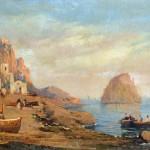 Achille Carelli - Capri Panorama dal Golfo