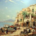 Carl Bowedt - Napoli dalla Costiera Sorrentina
