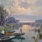 Leon Giuseppe Buono - Tramonto sul Lago di Patria
